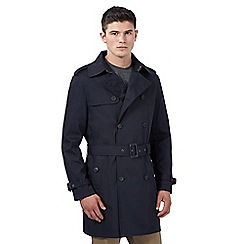 Red Herring - Big and tall navy classic button mac coat