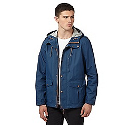 Red Herring - Big and tall navy hooded hiking jacket
