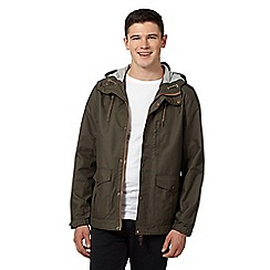 Red Herring - Khaki hooded hiking jacket