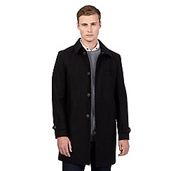 Red Herring - Big and tall black smart mac coat