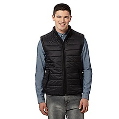 Red Herring - Big and tall black padded gilet