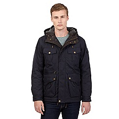St George by Duffer - Big and tall navy hooded jacket