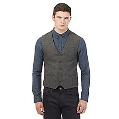 Red Herring - Grey wool rich tweed waistcoat