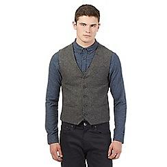 Red Herring - Grey wool rich tweed waistcoat