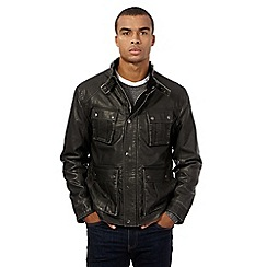 Red Herring - Black leatherette jacket