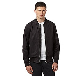 Red Herring - Black wadded bomber jacket
