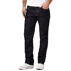 St George by Duffer - Big and tall dark blue rinse straight jeans