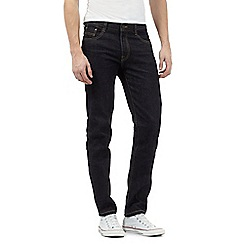 St George by Duffer - Big and tall blue rinse wash tapered fit jeans