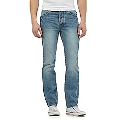 St George by Duffer - Big and tall light blue straight leg jeans