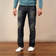 Big and tall blue straight leg jeans