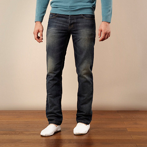Red Herring - Big and tall blue straight leg jeans