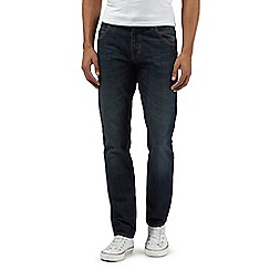Red Herring - Big and tall dark blue zip fly rinse wash slim fit jeans