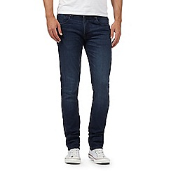 Red Herring - Big and tall blue skinny fit dark wash jeans