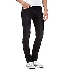 Red Herring - Big and tall black wash skinny jeans