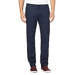 Red Herring - Big and tall navy zip fly raw slim leg jeans