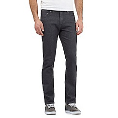 Red Herring - Big and tall grey zip fly raw slim leg jeans