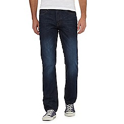 Red Herring - Big and tall dark blue straight fit jeans