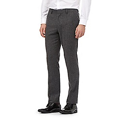 Red Herring - Big and tall grey herringbone slim fit trousers