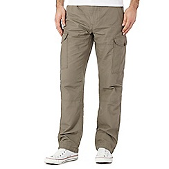Red Herring - Big and tall light brown cargo trousers