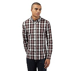 Red Herring - Dark red checked button-down shirt