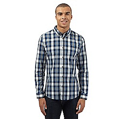 Red Herring - Navy checked button-down shirt
