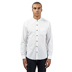 Red Herring - White smart granddad collar shirt