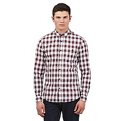 Red Herring - Big and tall red marled gingham checked shirt