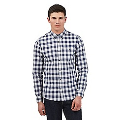 Red Herring - Big and tall grey marled gingham checked shirt
