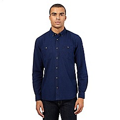 St George by Duffer - Big and tall navy square print shirt