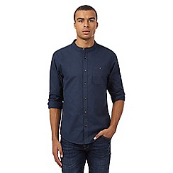 Red Herring - Navy Oxford granddad shirt