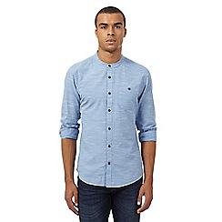 Red Herring - Blue fine stripe granddad shirt