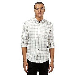 Red Herring - Off white checked slim fit shirt