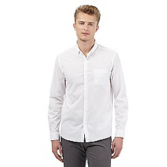 Red Herring - White stretch slim fit shirt