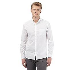 Red Herring - White stretch slim fit shirt