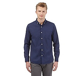 Red Herring - Navy stretch slim fit shirt