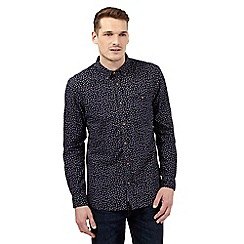 St George by Duffer - Navy ditsy shirt