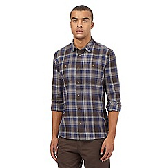 St George by Duffer - Big and tall brown checked print shirt