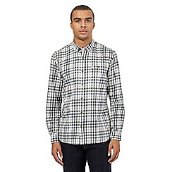 St George by Duffer - Big and tall off white gingham checked print shirt