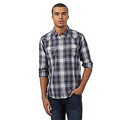 Red Herring - Navy regular fit long sleeved shirt