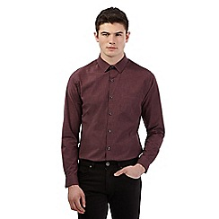 Red Herring - Wine space dye long sleeve shirt