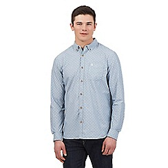 St George by Duffer - Grey leaf print shirt