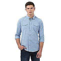 Red Herring - Blue fine striped print shirt