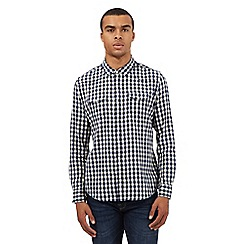 Red Herring - Navy gingham print shirt