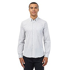 Red Herring - Light grey irregular grid slim fit shirt