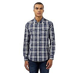 Red Herring - Navy checked print western shirt