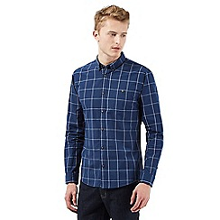 Red Herring - Navy window pane checked print shirt