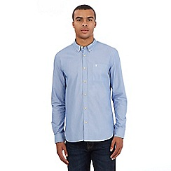 St George by Duffer - Navy micro stripe shirt
