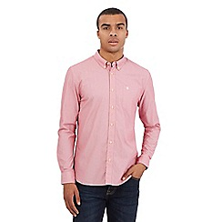 St George by Duffer - Big and tall red micro stripe shirt
