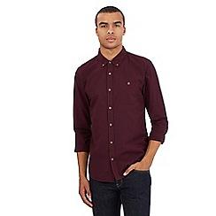 Red Herring - Dark red gingham checked print shirt