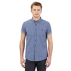 Red Herring - Big and tall blue gingham checked shirt